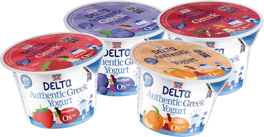 Dεlta Genuine Greek yogurt with Fruits!